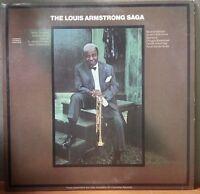 """Louis Armstrong """"The Louis Armstrong Saga"""" Vinyl Record"""