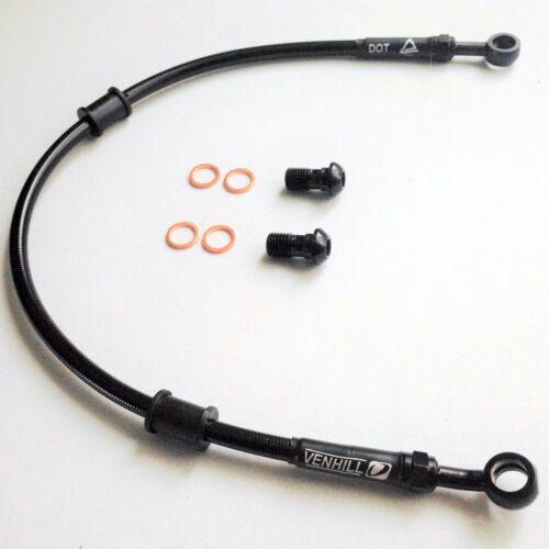 DUCATI 999R 2004 VENHILL s//steel braided brake hoses lines REAR