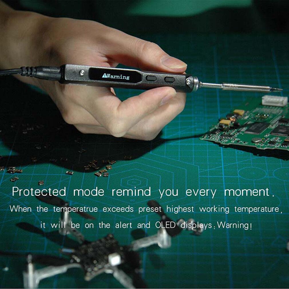 Mini TS100 OLED Digital 65W Soldering Iron Welding Controller Tips DC5525 OLED