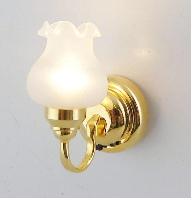 1:12 Dolls House Miniature Globe White Ceiling LED Light Lighting Lamp with S2K7
