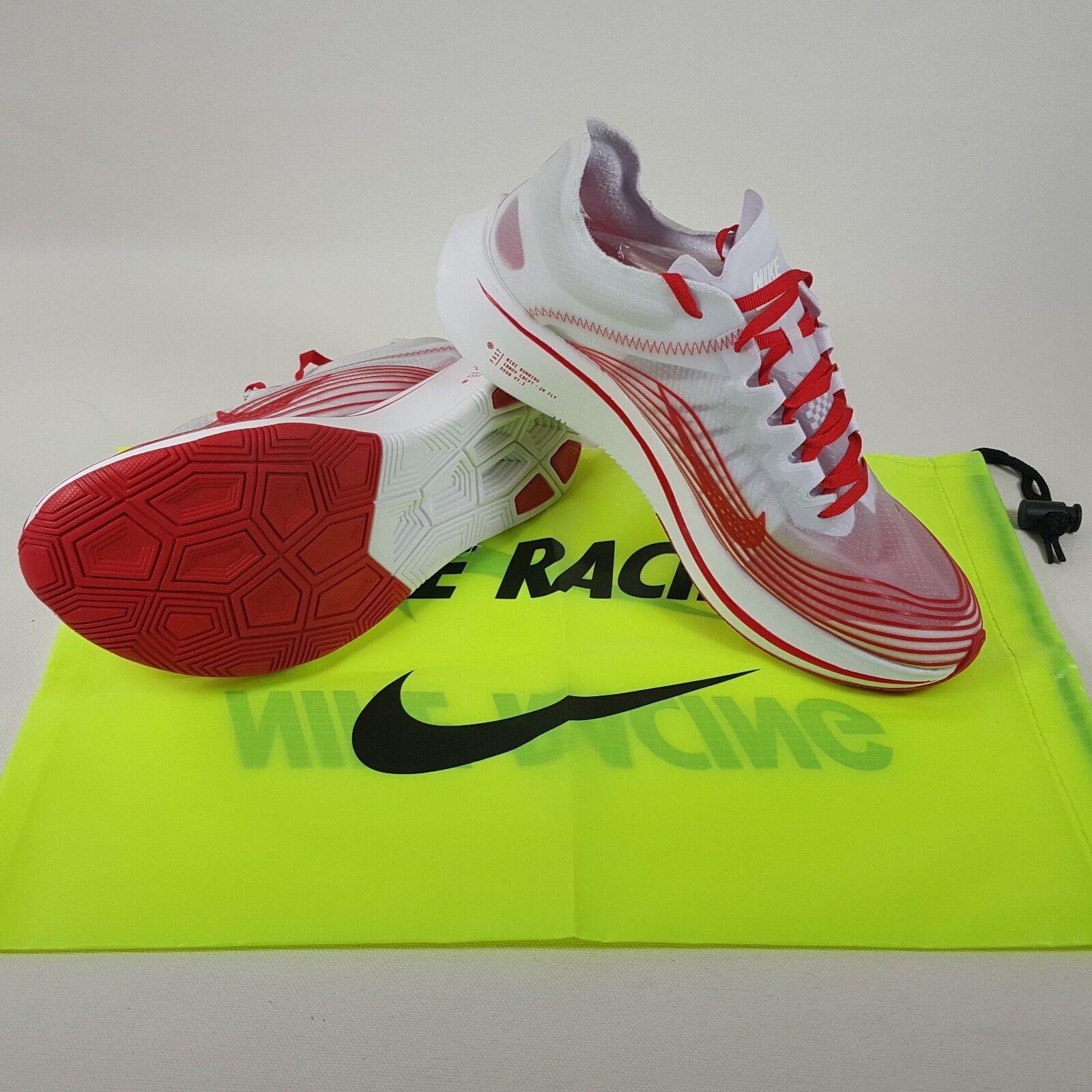 NikeLab Nike Zoom Fly SP Tokyo White/University Red Running Shoes Men's Size 9