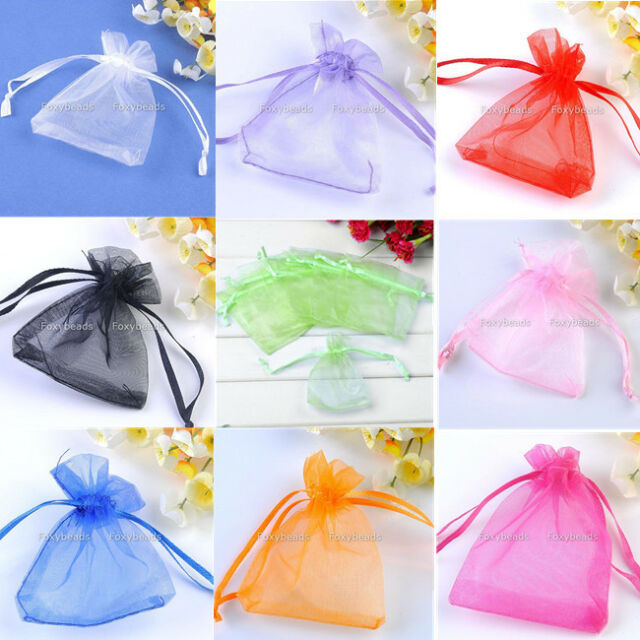 LOT 7x9cm Organza Gift Bags Wedding Favor Candy Party Jewelry Pouch Multi-color