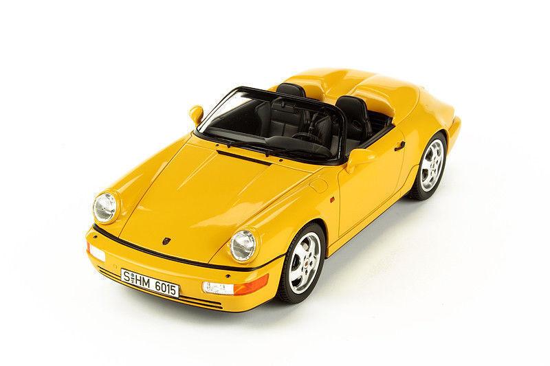 1 18 GT Spirit  gt008cs PORSCHE 964 Speedster 1993-jaune limitée 1500st.