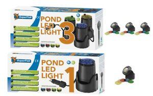 SuperFish LED Garten & Unterwasser Teichbeleuchtung +4 Farben. | eBay