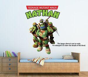 Large Personalized Teenage Mutant Ninja Turtles Wall Decal Remove - Ninja turtle wall decals