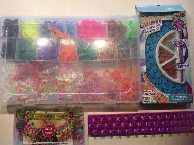Andet legetøj, LOOM kulørte små plastic ringe til at lave
