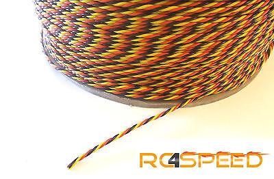 0,90€//m 5 Meter Servokabel Servolitze VD 3x 0,25mm² Kupferlitze