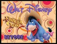 Eeyore Cowboy Fridge Magnet Logo 9. 4 X 5. Disney Cartoons.....free Ship