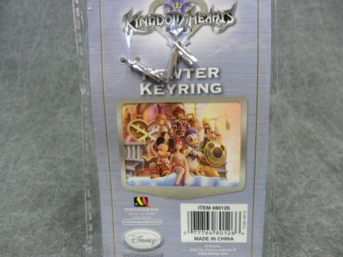 Kingdom Hearts Pewter Metal Keychain Disney NEW Way to the Dawn Key Chain