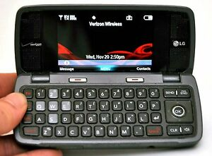 Lg voyager vx10000s verizon cell phone titanium flip keyboard.