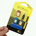 5-in-1 Metal Nano SIM Card to Micro Standard Adapter Converter Set for iPhone AU