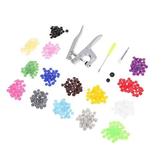 Fastener Snap Pliers KAM Button+150 set T5 Plastic Resin Press Stud Cloth C#P5