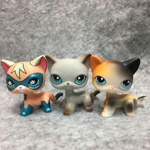 3-Lot-Littlest-Pet-Shop-Lps-Figurine-Jouets-106-391-28-Super-Hero-Court-Chat