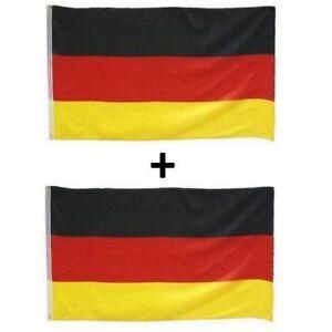 2 Fahnen SET Deutschland Fahne Flagge 60x90cm mit Ösen