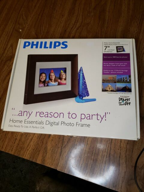 Phillips Wood Panel Digital Picture Frame 7 Inch