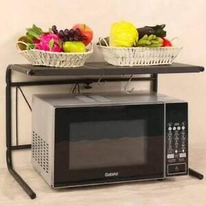 2-Tier-Extendable-Microwave-Oven-Shelf-Kitchen-Storage-Rack-Organizer-Holder
