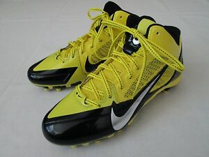 New Mens 10 Nike Flywire Alpha Pro 3/4 TD Football Shoes Yellow/Black