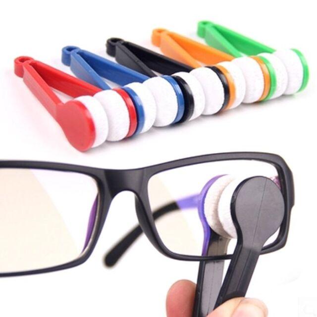 Modern Mini Glasses Eyeglass Sunglasses Spectacles Microfiber Cleaner Brush New