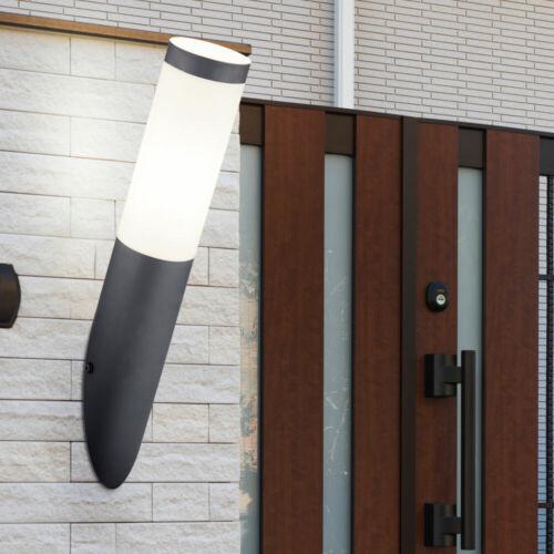 RGB DEL extérieur mur Lampe Variateur Télécommande En Acier Inoxydable Torche Lampe Anthracite