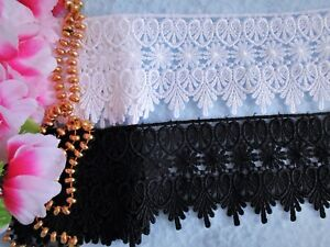 price for 1 yard High quality,Black color lovely Venise lace trim