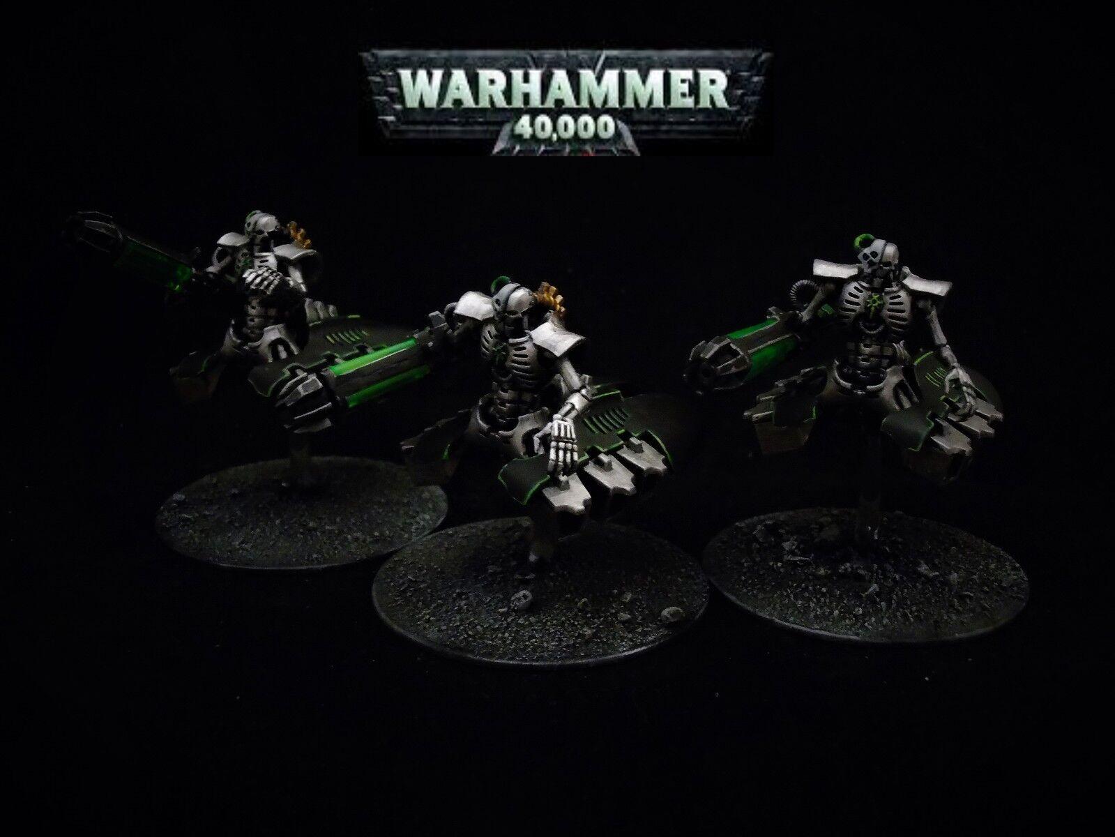 Warhammer 40,000 Necron Destroyers x 3 Pro Painted