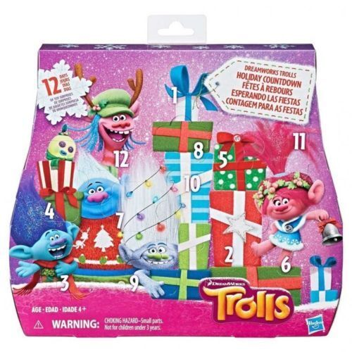 TROLLS Countdown Advent Calendar 12 Days Toy Poppy Branch christmas holiday NEW
