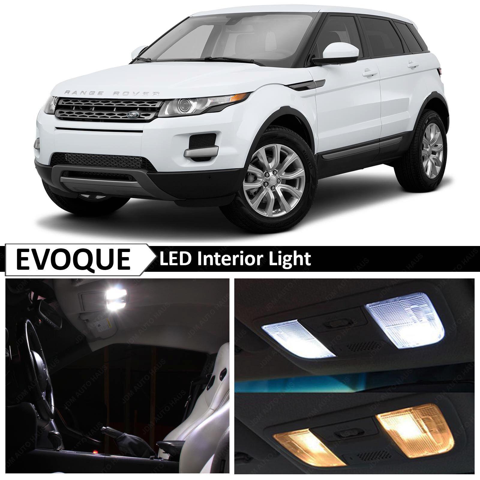 12x White LED Lights Interior Package Kit For 2012-2015