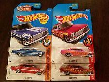 Hot Wheels 2017 Super Treasure Hunt '63 Chevy II HW Flames (Lot of 4) *NEW*