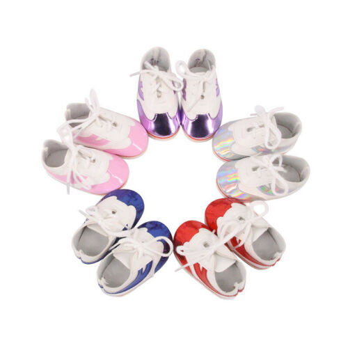 "Handmade Accessories Fits 18/""Inch American Girl Doll Fashion Sequined Sneakers"