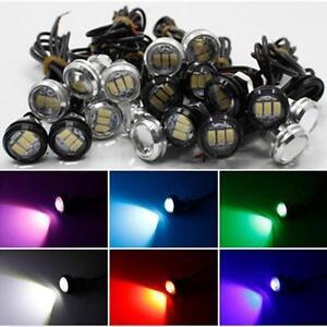 2-10x-10W-LED-Lampara-de-ojo-de-aguila-Auto-Cola-DRL-23MM-Backup-inversa-Senal-de-Vuelta-12V