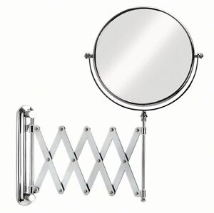 Image Is Loading IKEA FRACK Extendable Magnifying Bathroom Mirror NEW