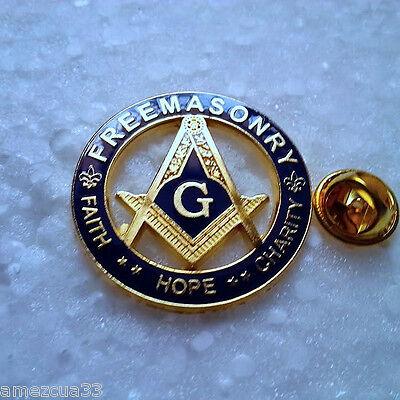 Large High Quality Freemasonry  Lapel Pin
