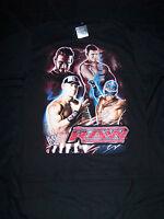 Wwe Youth Monday Night Raw Shirt Miz, John Cena, Cm Punk & Rey Mysterio Lg