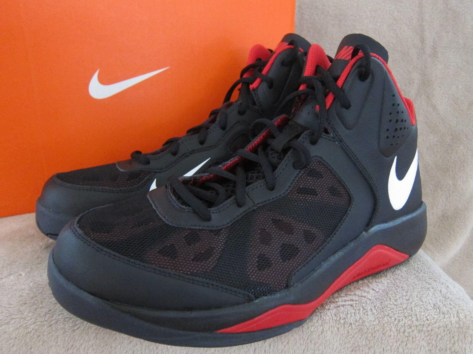 Nike Hombre Dual Negro Fusion Negro Dual Y Rojo Zapatos de baloncesto tamaño nos 10.5 M Nuevo Con Caja 021bc4
