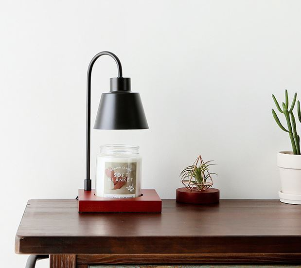 Modern Electric Candle Warmer Set With Halogen Lamp And And And Dial Controller 74d433
