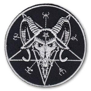 Flight Tracker Aufnäher Baphomet Pentagramm Black Metal Satan Luzifer 666 Lavey Pagan Wgt Patch