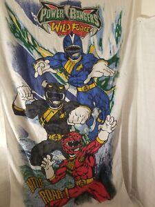 Power Rangers Ninja Storm Beach Towel 29 x 58 inch Made 2002 New ABC Kids