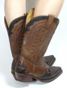 Cowboystiefel Damenstiefel Line Dance Catalan Style Leder Texas Boots 38,5