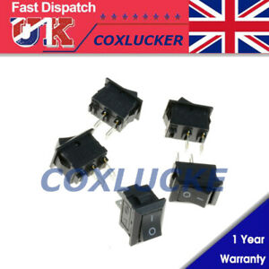 Small Mini Black On//Off Rocker Switch Rectangle SPST 12V All Quantities