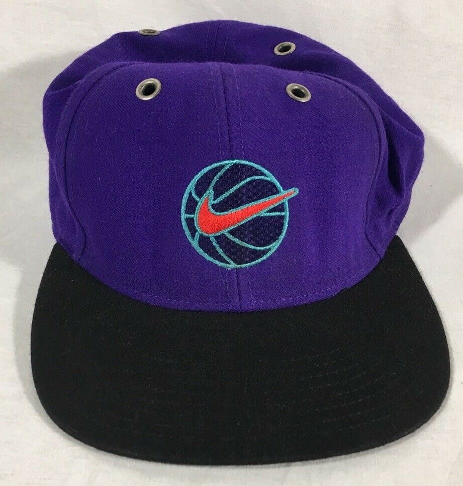 vtg 90s Baseball NIKE AIR Hat Purple Cap Fitted m/l Baseball 90s Cap Old Logo da8839