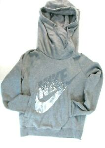 17a91258f43e Nike WN S Rally Funnel Metal Hoodie 853725 901 SPORT Pullover GRAY ...