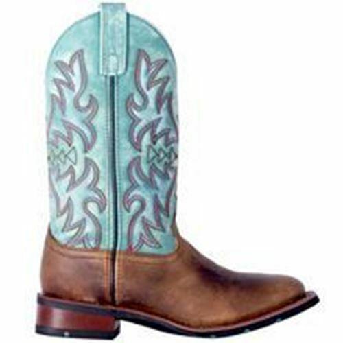 Laroto Damen Western Cowboy Leder Stiefel 5607 Braun Türkis