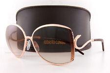 Brand New Roberto Cavalli Sunglasses RC 663S 28F Gold/Brown Gradient For Women