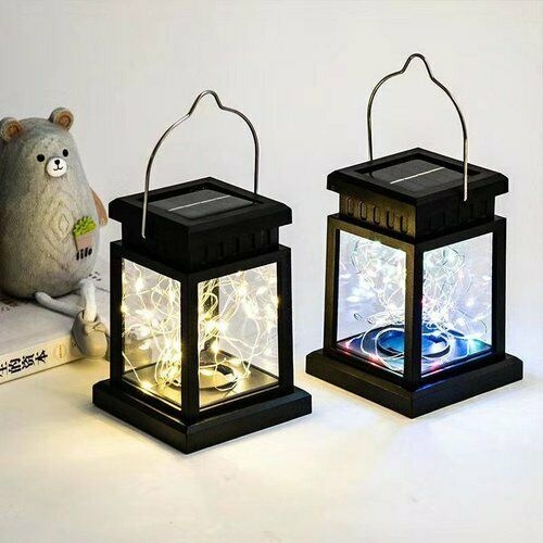 Solar Powered LED Court lamp Fairy Lights Outdoor Garden Yard Hanging Lamps