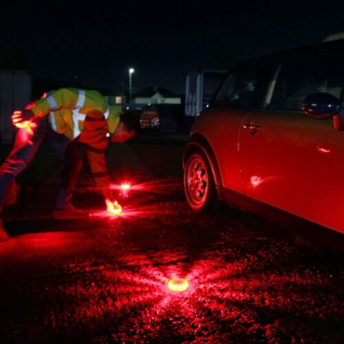 Orange Magnetic Car Vehicle Breakdown Hazard Warning Flares Flash Light