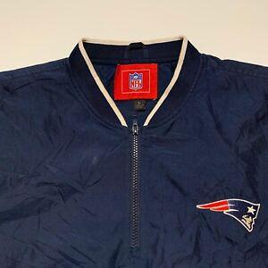 Nike New England Patriots NFL On Field 1/4 Zip Pullover Windbreaker Large