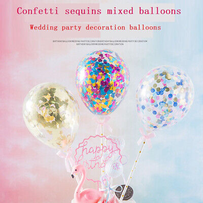 Confetti Sequin Balloon Cake Toppers Decoration Baby ...