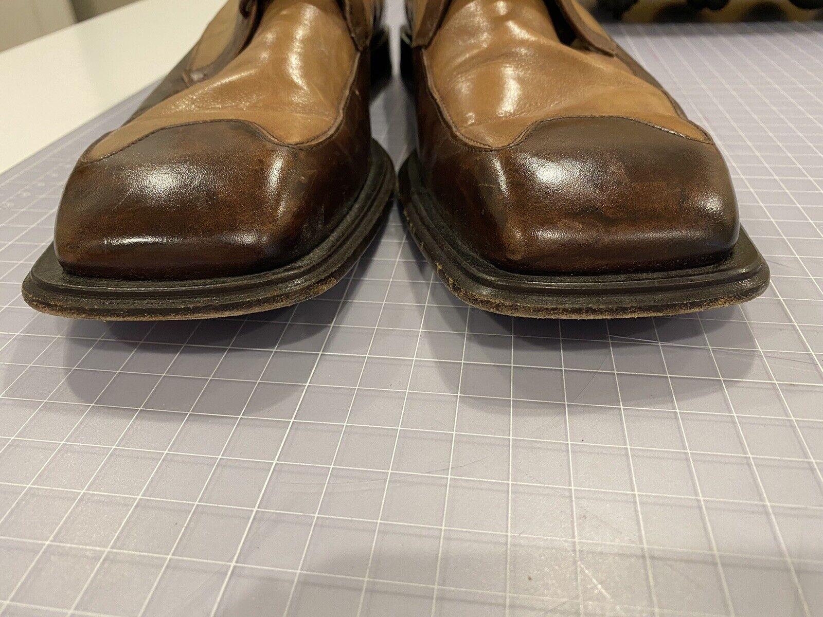 "Mezlan ""MALTA"" Mens Brown Tan Leather Square Toe … - image 8"