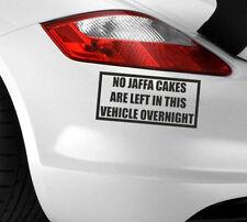 No hay etiqueta engomada coche izquierda Gracioso Jaffa Tortas Calcomanía Vinilo van parachoques del vehículo ventana JDM