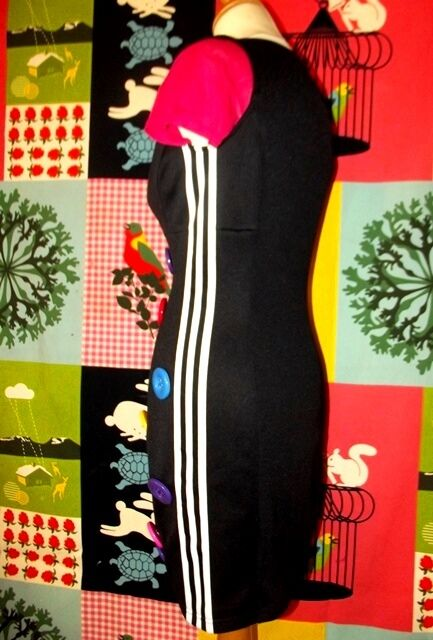 CREATEUR JEREMY SCOTT POUR ADIDAS ROBE DRESS COLLECTOR COLLECTOR COLLECTOR HOT STUFF BOUTONS 38 e11a0e